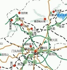 北京至西安地图